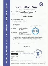 Certificati ATEX TUVinglese